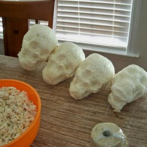 I experimented with casting great stuff foam skulls ... my results were very mixed to say the least