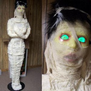 Craigslist Mummy. 6 ft tall motion activated.