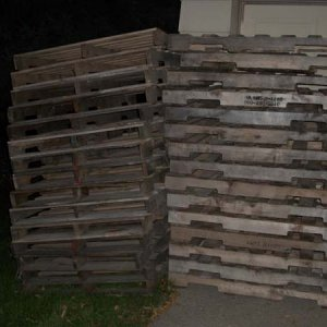 My stack of pallets for free, even delivered.
