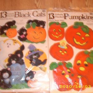 Early 80's flocked decorations. 13 in each package