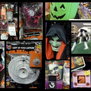 Another photo of the 2010 Halloween range of decorations, costumes and costume accessories at Browse In (an Australian discount store).