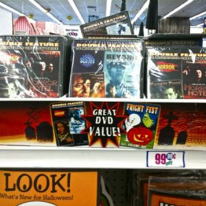 99¢ ONLY STORES, 2010. DVDs for Halloween, Horror, Sci-Fi, Mystery (most double features), also a few kids titles.