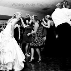 Dancing like crazy fools!