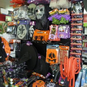 The new Halloween stock the local Post Office/Newsagency.