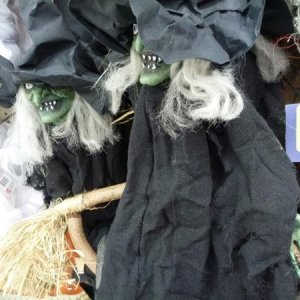 Witch prop on sale for $14.99 at Toys R Us