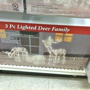BIG LOTS!, 2010. Frames for a pack of Reindeer/Wolfs. Only larger deer is animated of the set. $34.