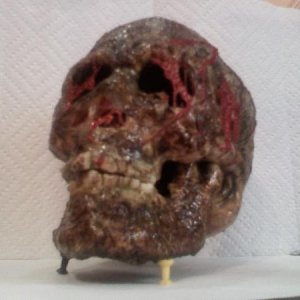 skull01 - This one is just about complete.  I toned down the red tissue matter a little and he looks okay.