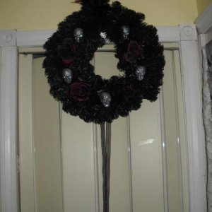 My wreath inspired by the one I created & sent to my Secret Reapee.