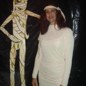 Of course I was the Mummy!