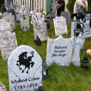 some tombstones