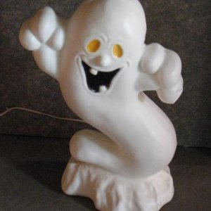 "Halloween blow mold 22"" tall ghost"