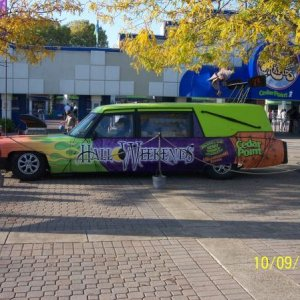 The Hearse at cedar point sandusky ohio. Halloweek ends