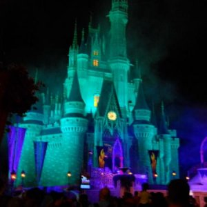 Cinderella's Castle looks much more ominous with the right lighting