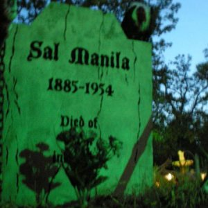 "Sal Manila is my new tombstone this year. It says ""Died of avian influenza"" on the bottom."