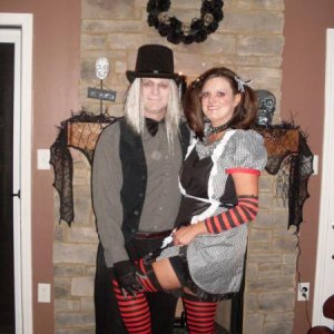 My hubby and I......undertaker & gothic doll