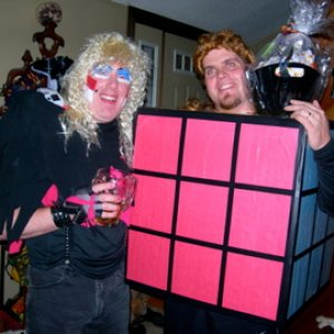 Dee Snider and Rubix Cube tied for best costume...