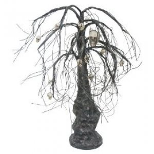 This haunted tree with skulls is so cool fron Target.com!