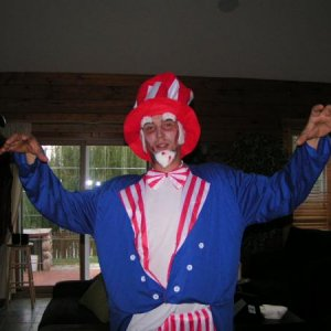 My boyfriend Chris (zombie Uncle Sam)