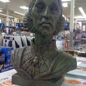 These interactive talking bust from Sam's Club are so cool!