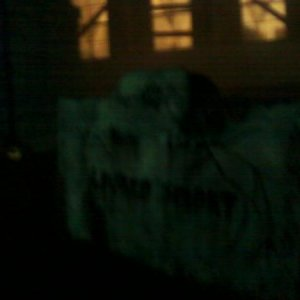 Night shot of my (Lauren Smart's) tombstone.