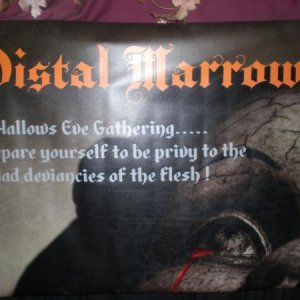 Custom Distal Marrow banner...welcoming those hapless souls that dare enter my domain.............