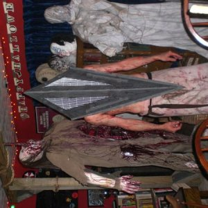 "My firend JM , arriving as Pyramid head from ""Silent Hill"" !!!! My first place winner at this years costume contest. Killer job JM !!!! The"