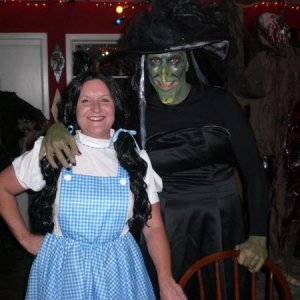 My Sister and Brother in law as Dorothy and the Wicked Witch from Wizard of Oz !!! My second place winners this year !!!!! John you kicked ass as the