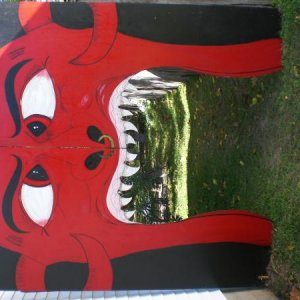 Outdoor devil mouth entry way, my wife and I made.