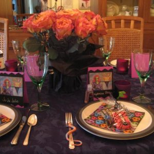 Halloween party table setting