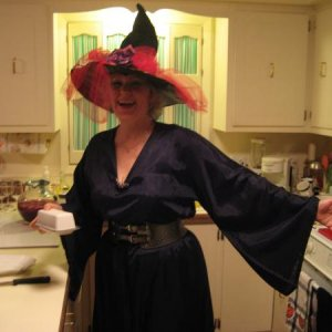 My mom in her witch costume