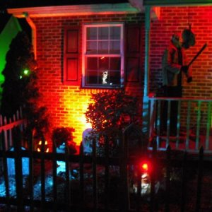 Outside Haunt (left)