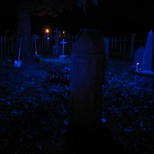 Grave yard. I gotta get some fog out there next year. Had intentions this year... intentions. :P