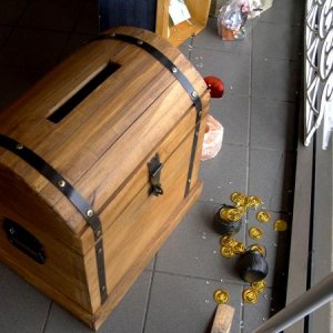 Example of a donation treasure chest