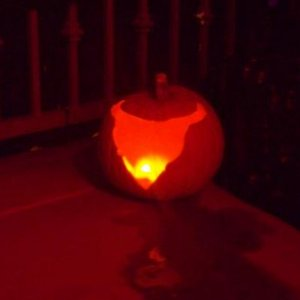 Fog spewing pumpkin