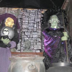 The Witches Coven ...   with a flash showing all.