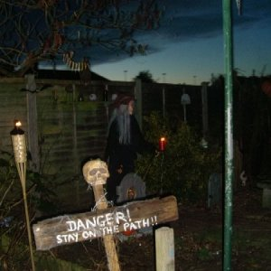 The first part of the Garden Haunt at dusk. Once again we were very lucky with the weather.