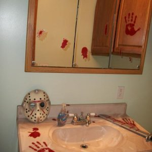 bathroom. I've also got the bloody shower curtain, I just forgot to take a pic of it..