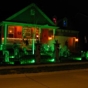 Night Halloween Display