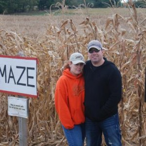 Mandy and me at the corn maze! lots of fun.
