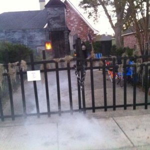 front gate and entrance to Haunted House
