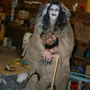 Evil Queen (witch) at Snow Fright site