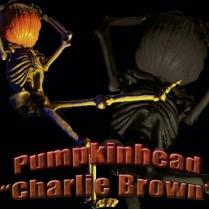 Pumpkinhead  Real name is Charlie Brown. He will have a tombstone next year!