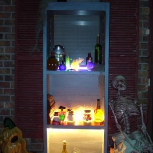 Witch pantry on Halloween night.