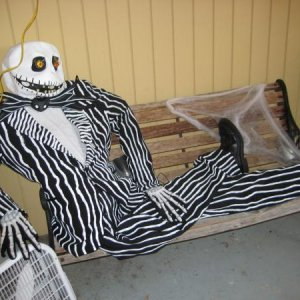 Jack Skellington loungin