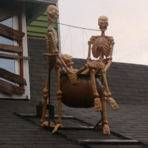New for 2010: skellies swinging a third in a cauldron.