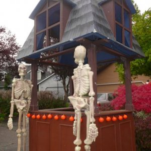 Cider hut with skellies.