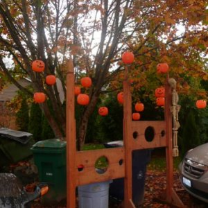 Stockade under the pumpkin tree.