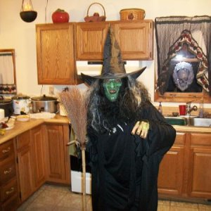 witchy poo makes a surprise visit to the party