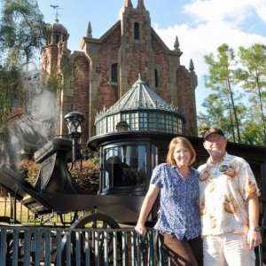 Hubby and I at the Haunted Mansion 2010.