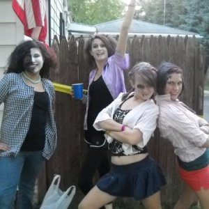 Zombie girls from my daughter's birthday / H'ween party  She is 2nd from right.